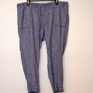 Old Navy Blue Heathered Joggers W/Drawstrings